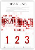 Las winter sale flyer template. Vector background