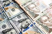 Ukrainian and American money