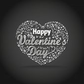 Happy valentine`s day greeting card. Design elements