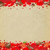 Valentines Day Border With Gradient Mesh, Vector Illustration