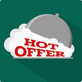 Hot offer flat icon