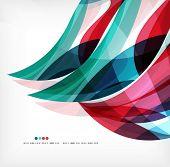 Business wave corporate background, flyer, brochure design template