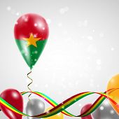 Flag of Burkina Faso on balloon
