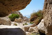 Ein Gedi Nature Reserve Off The Coast Of The Dead Sea