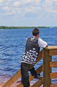 Looking At The Ocean