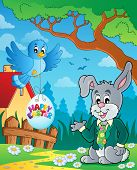 Easter rabbit theme image 3 - eps10 vector illustration.