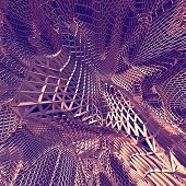 Abstract 3D Purple Net Cloth Background