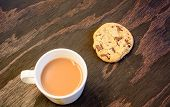 A Cup Of Tea And A Chocolate Chip Cookie
