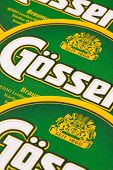 Germany,dresden - September 20,2014:beermats From Gosser Beer.gosser Beer Is The Main Brand Of The G