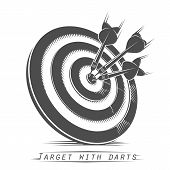 Target with darts vintage tattoo