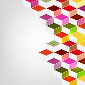 Colorful abstract design on grey background.