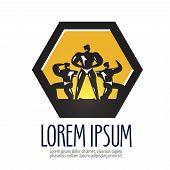 gym vector logo design template. bodybuilder or sports icon.