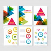 Templates. Set of Flyer, Brochure Design Templates. Mobile Technologies, Applications and Infographi