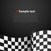 Racing checkered finish flag vector background