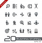 Icons Set of Business Strategy and Management // Basics