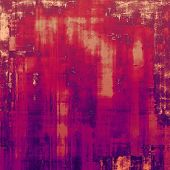 Old grunge background with delicate abstract texture and different color patterns: red (orange); yellow (beige); purple (violet); pink