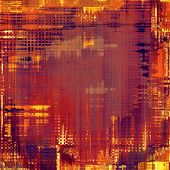 Grunge texture with decorative elements and different color patterns: red (orange); yellow (beige); brown; purple (violet)