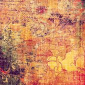Designed background in grunge style. With different color patterns: red (orange); yellow (beige); brown; purple (violet); pink
