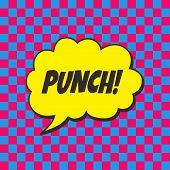 stock photo of nuke  - pop art retro theme bubble caption vector illustration - JPG
