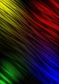 Relief wavy dark background with multicolored lights