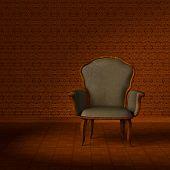 Antique armchair.