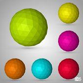 Polygonal sphere set color