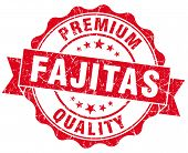 Fajitas Red Grunge Seal Isolated On White