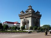 Patuxai Gate In Laos
