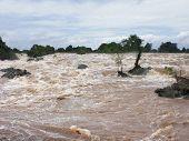 Flooding Mekong In Laos