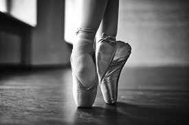 image of ballerina  - Feet of dancing ballerina - JPG