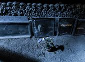pic of catacombs  - Fontanels cemetery Cimitero delle Fontanelle Naples Italy - JPG