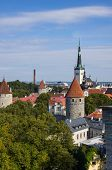 stock photo of olaf  - Top view on beautiful colorful buildings of Old Town TALLINN ESTONIA - JPG