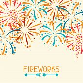 picture of salute  - Background design with abstract fireworks and salute - JPG