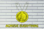picture of gold medal  - goals and success achieve everything - JPG