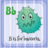 picture of letter b  - Flashcard letter B is for bacteria - JPG