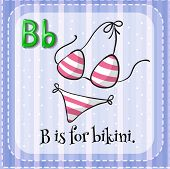 stock photo of letter b  - Flashcard letter B is for bikini - JPG