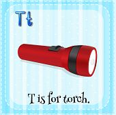 picture of torches  - Flashcard alphabet T is for torch - JPG