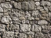 image of fortified wall  - part of a stone wall for background or texture - JPG