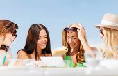 picture of internet-cafe  - summer holidays - JPG