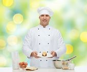 foto of pastry chef  - cooking - JPG