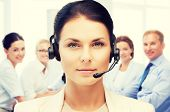 foto of telephone operator  - business and technology concept  - JPG