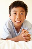 picture of pre-teen boy  - Portrait young Asian boy - JPG