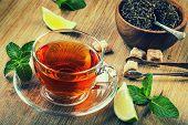 picture of darjeeling  - Tea in a glass cup - JPG