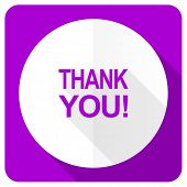 image of thankful  - thank you pink flat icon  - JPG