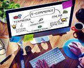 foto of e-business  - E - JPG
