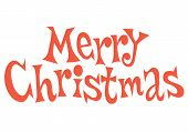 stock photo of merry christmas text  - Merry Christmas text fifties retro style lettering - JPG