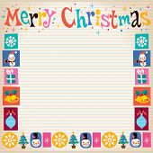 pic of merry christmas text  - Merry Christmas fifties retro style greeting card with space for text - JPG
