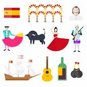 picture of castanets  - Spanish symbols signs and landmarks - JPG