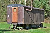 foto of bohemia  - old residential mobile trailer South Bohemia Czech Republic - JPG