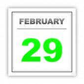 stock photo of february  - February 29 - JPG